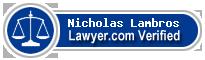 Nicholas Lambros  Lawyer Badge