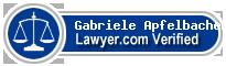 Gabriele Anna Apfelbacher  Lawyer Badge