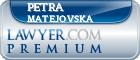 Petra Matejovska  Lawyer Badge
