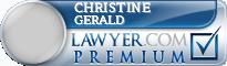 Christine Petronilla Gerald  Lawyer Badge