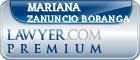 Mariana Zanuncio Boranga  Lawyer Badge