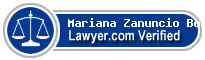 Mariana Zanuncio Boranga  Lawyer Badge