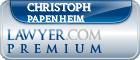 Christoph Georg Papenheim  Lawyer Badge