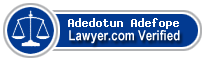 Adedotun Oluwatosin Adefope  Lawyer Badge