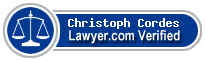 Christoph Reinhard Cordes  Lawyer Badge
