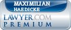 Maximilian Haedicke  Lawyer Badge