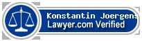 Konstantin Johannes Joergens  Lawyer Badge