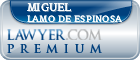Miguel Lamo De Espinosa  Lawyer Badge