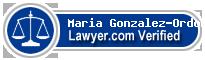 Maria Gonzalez-Ordonez  Lawyer Badge