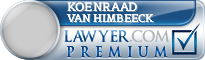 Koenraad Clemens Willem Van Himbeeck  Lawyer Badge