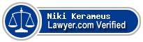 Niki K Kerameus  Lawyer Badge