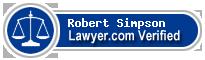 Robert Lyndon Simpson  Lawyer Badge