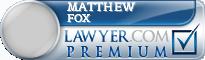 Matthew William Fox  Lawyer Badge