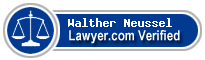 Walther H. Neussel  Lawyer Badge