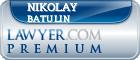 Nikolay Valeryevich Batulin  Lawyer Badge
