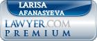 Larisa Alexandrovna Afanasyeva  Lawyer Badge