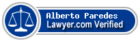 Alberto Jose Paredes  Lawyer Badge