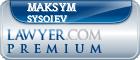 Maksym Sysoiev  Lawyer Badge