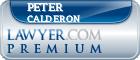 Peter J. Calderon  Lawyer Badge
