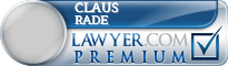 Claus D. Rade  Lawyer Badge