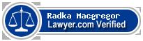 Radka P. Macgregor  Lawyer Badge