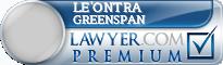Le'Ontra Breeden Greenspan  Lawyer Badge