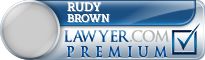 Rudy Michael Brown  Lawyer Badge