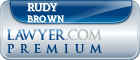 Rudy Michael Brown  Lawyer Badge