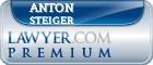 Anton Johann Steiger  Lawyer Badge