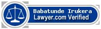 Babatunde Ayokunle Irukera  Lawyer Badge