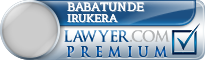 Babatunde Ayokunle Irukera  Lawyer Badge