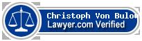 Christoph Stephan Von Bulow  Lawyer Badge