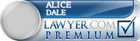 Alice L Dale  Lawyer Badge