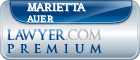Marietta Auer  Lawyer Badge