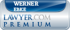 Werner Friedrich Ebke  Lawyer Badge