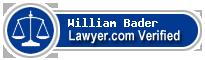William Charles Bader  Lawyer Badge