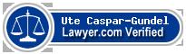 Ute Caspar-Gundel  Lawyer Badge