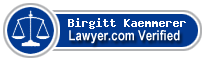 Birgitt Carin Kaemmerer  Lawyer Badge