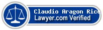 Claudio Domenico Aragon Ricciuto  Lawyer Badge
