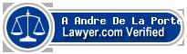 A Elisabeth Andre De La Porte  Lawyer Badge