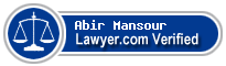 Abir Mansour  Lawyer Badge
