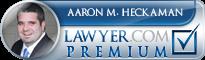 Aaron M. Heckaman  Lawyer Badge