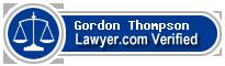Gordon Edward Thompson  Lawyer Badge