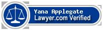 Yana A. Applegate  Lawyer Badge