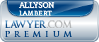 Allyson Grace Lambert  Lawyer Badge