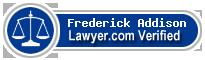 Frederick Gibbons Addison  Lawyer Badge