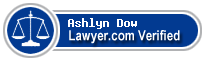 Ashlyn Elizabeth Dow  Lawyer Badge