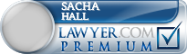 Sacha Hall  Lawyer Badge
