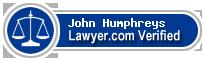 John Orland Humphreys  Lawyer Badge