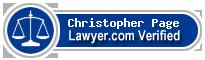 Christopher John Page  Lawyer Badge